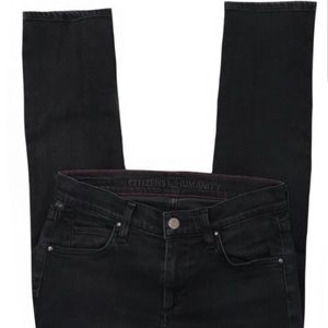 Citizens of Humanity Black Straight Leg Denim